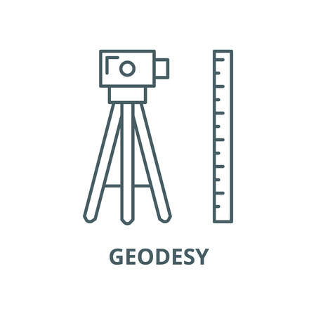 Geodesy vector line icon, outline concept, linear sign