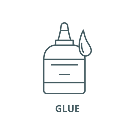 Glue vector line icon, outline concept, linear sign