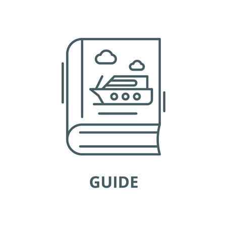 Guide vector line icon, outline concept, linear sign Vetores