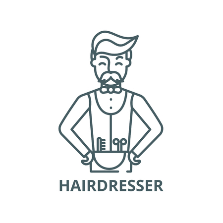 Hairdresser vector line icon, outline concept, linear sign