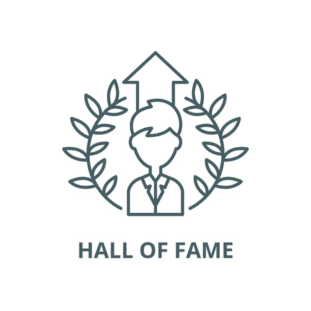 Hall of fame vector line icon, outline concept, linear sign Illustration