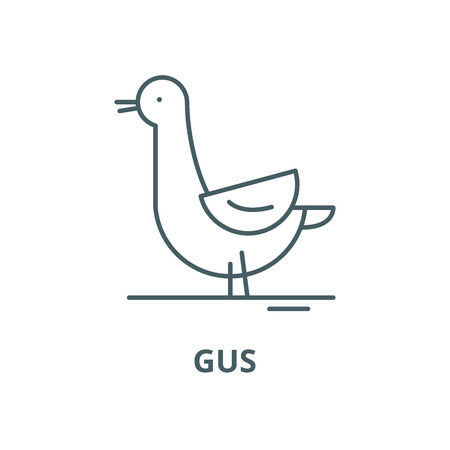 Gus vector line icon, outline concept, linear sign