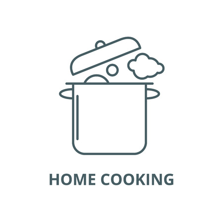 Home cooking vector line icon, outline concept, linear sign