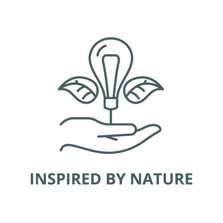 Inspired by nature vector line icon, outline concept, linear sign Ilustração