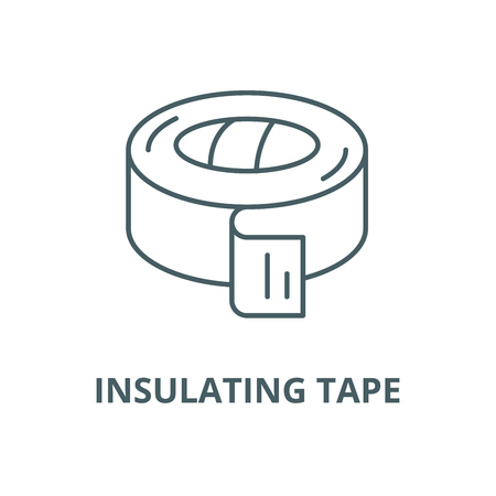 Insulating tape vector line icon, outline concept, linear sign