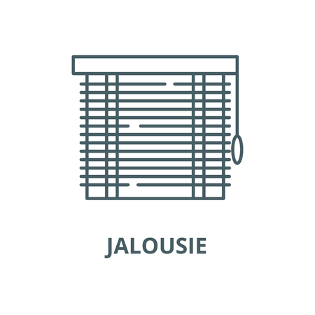 Jalousie vector line icon, outline concept, linear sign Ilustracja
