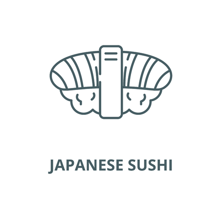 Japanese sushi vector line icon, outline concept, linear sign