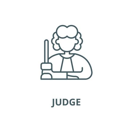 Judge vector line icon, outline concept, linear sign Ilustrace