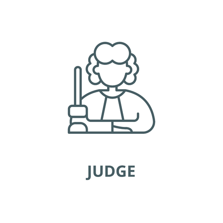 Judge vector line icon, outline concept, linear sign Illustration