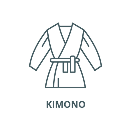 Kimono vector line icon, outline concept, linear sign Illustration