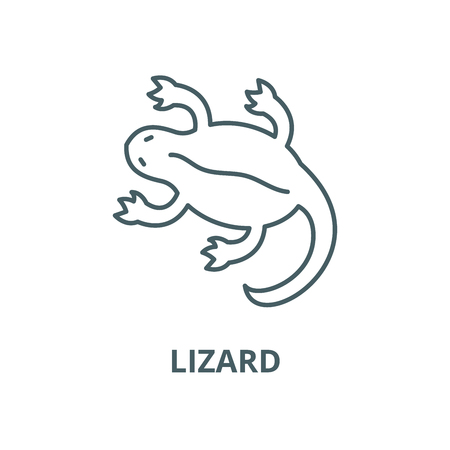 Lizard vector line icon, outline concept, linear sign  イラスト・ベクター素材