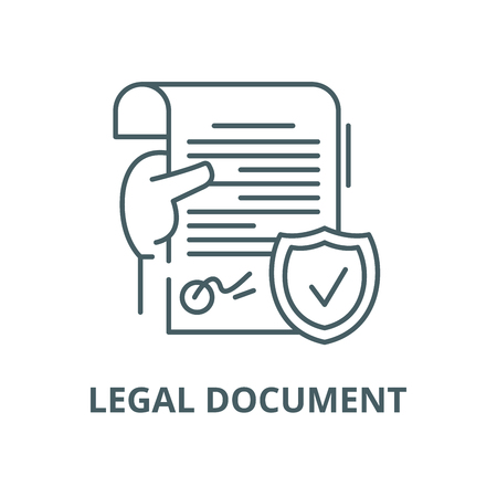 Legal document vector line icon, outline concept, linear sign Illustration