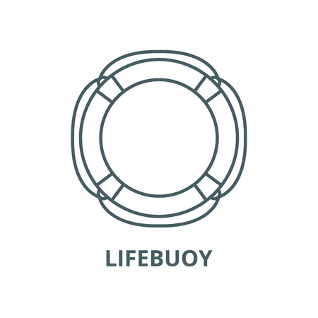Lifebuoy vector line icon, outline concept, linear sign