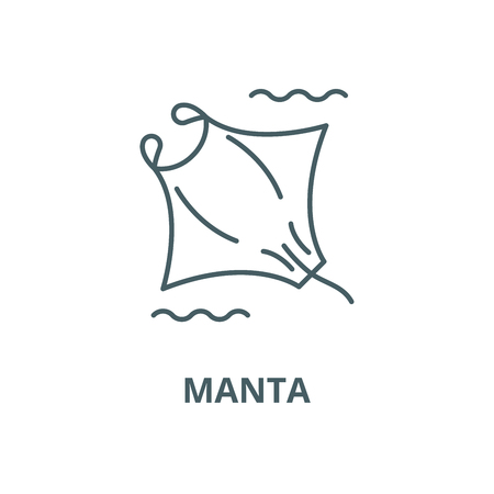 Manta vector line icon, outline concept, linear sign Illustration