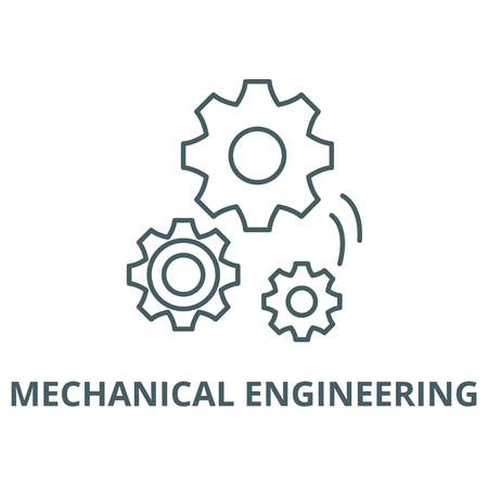 Mechanical engineering vector line icon, outline concept, linear sign