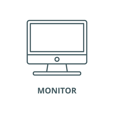 Monitor vector line icon, outline concept, linear sign