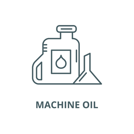 Machine oil vector line icon, outline concept, linear sign