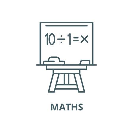 Maths vector line icon, outline concept, linear sign Archivio Fotografico - 122347938