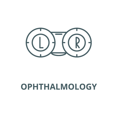 Ophthalmology vector line icon, outline concept, linear sign Illustration