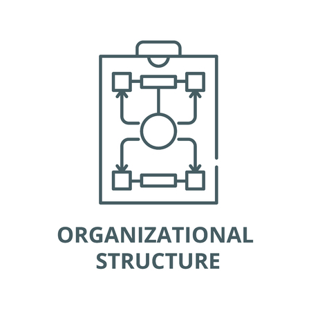 Organizational structure vector line icon, outline concept, linear sign Illustration