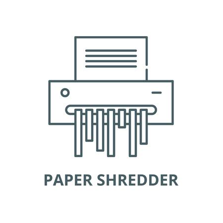 Paper shredder vector line icon, outline concept, linear sign Stock fotó - 122347995