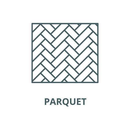Parquet vector line icon, outline concept, linear sign