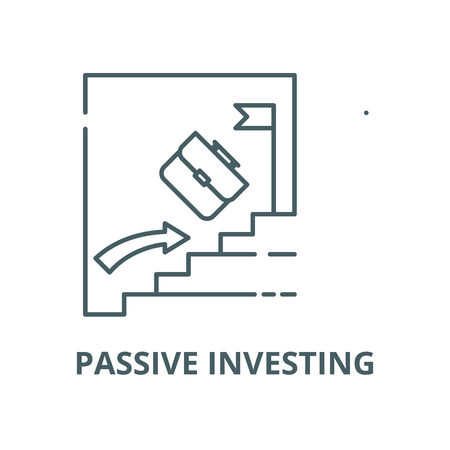 Passive investing vector line icon, outline concept, linear sign Illustration