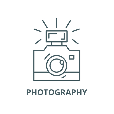 Photography vector line icon, outline concept, linear sign