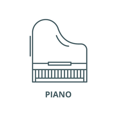 Piano vector line icon, outline concept, linear sign Illustration