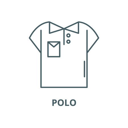 Polo vector line icon, outline concept, linear sign