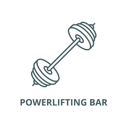 Powerlifting bar vector line icon, outline concept, linear sign Illustration