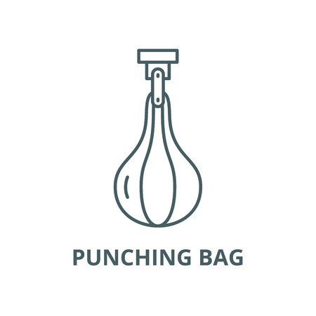 Punching bag vector line icon, outline concept, linear sign Banque d'images - 122348024