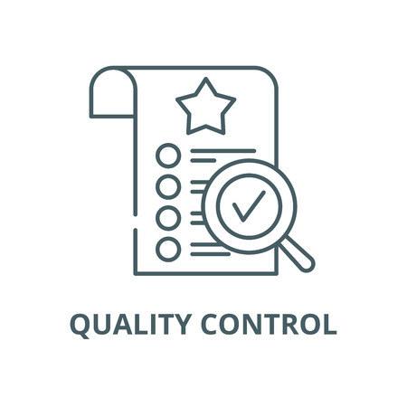 Quality control vector line icon, outline concept, linear sign Illustration