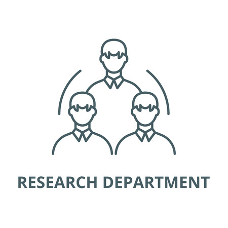 Research department vector line icon, outline concept, linear sign
