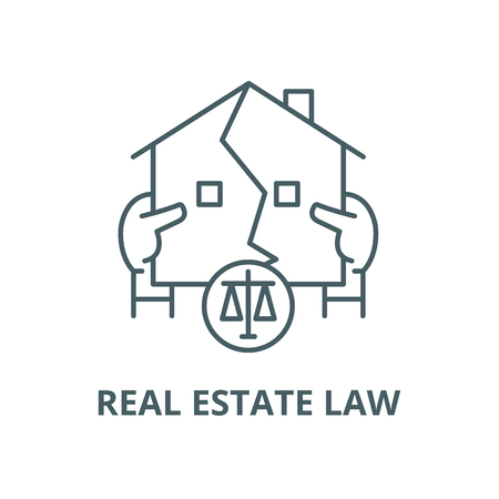 Real estate law vector line icon, outline concept, linear sign Illustration