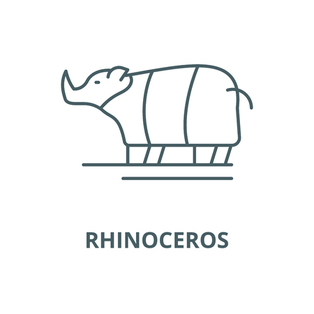 Rhinoceros vector line icon, outline concept, linear sign