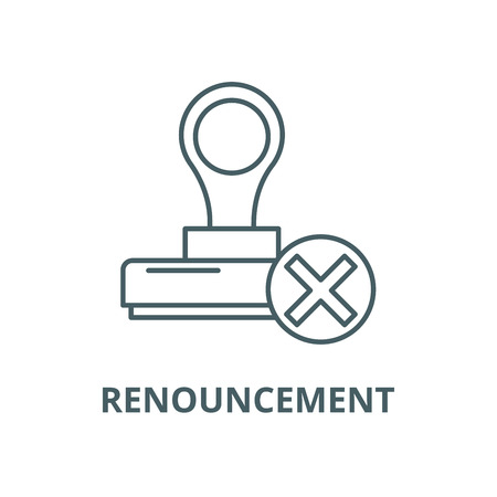 Renouncement vector line icon, outline concept, linear sign
