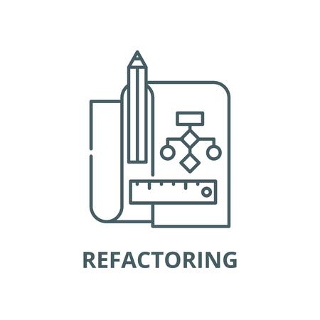 Refactoring vector line icon, outline concept, linear sign Standard-Bild - 122348133