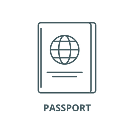 Passport vector line icon, linear concept, outline sign, symbol