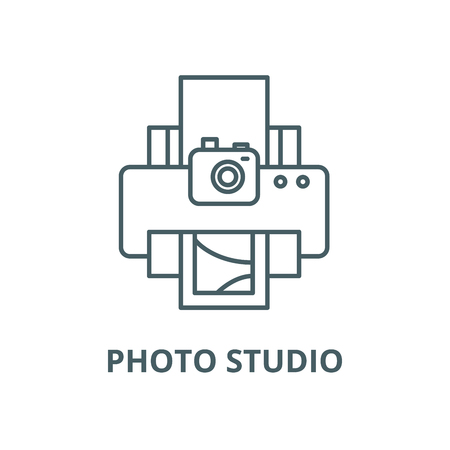 Photo studio vector line icon, outline concept, linear sign Banque d'images - 122348242