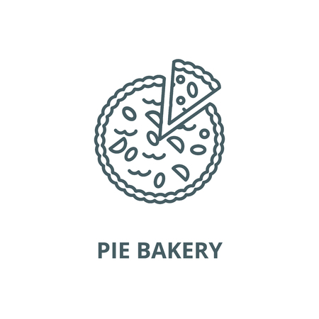 Pie bakery vector line icon, outline concept, linear sign Illustration