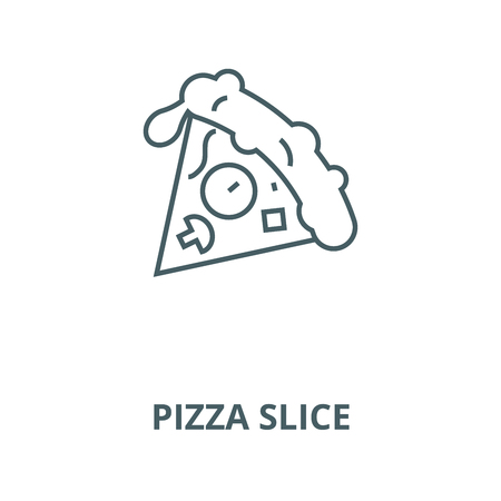 Pizza slice vector line icon, outline concept, linear sign
