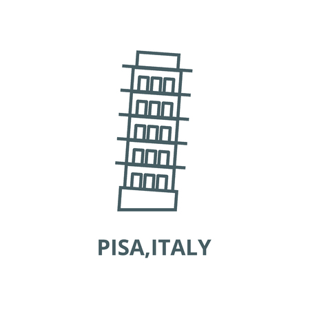 Pisa,italy vector line icon, outline concept, linear sign
