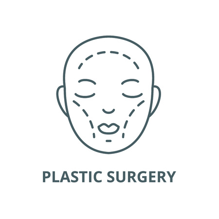 Plastic surgery vector line icon, outline concept, linear sign