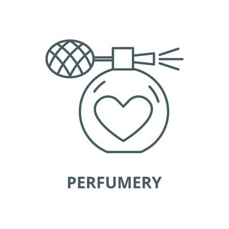 Perfumery vector line icon, outline concept, linear sign