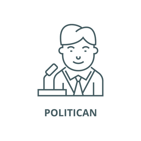 Politican vector line icon, outline concept, linear sign