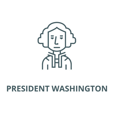 President usa,washington,judje vector line icon, outline concept, linear sign Illustration