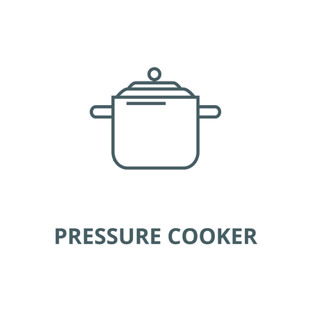 Pressure cooker,thermo pot  vector line icon, outline concept, linear sign