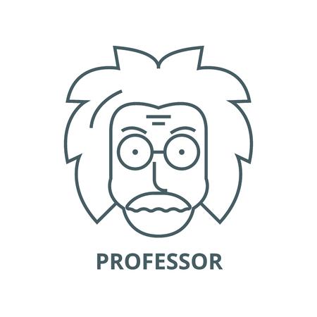 Professor,einstein,scientist,freak vector line icon, outline concept, linear sign