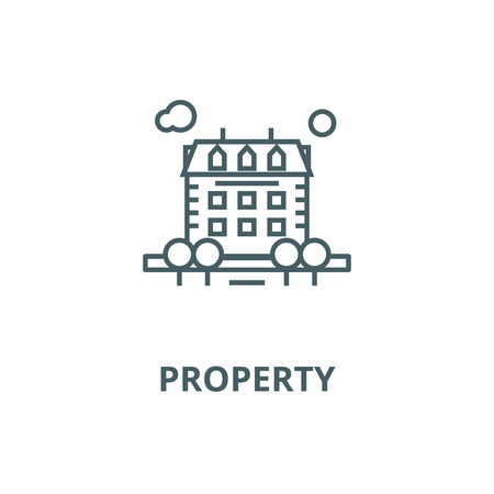 Property vector line icon, outline concept, linear sign